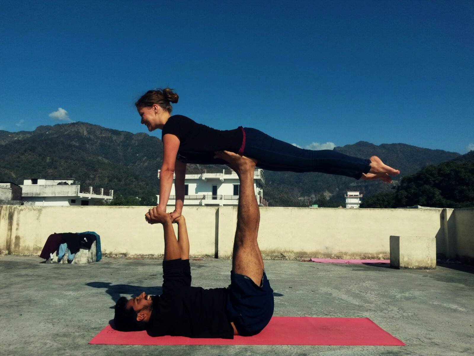 Trying Acro Yoga